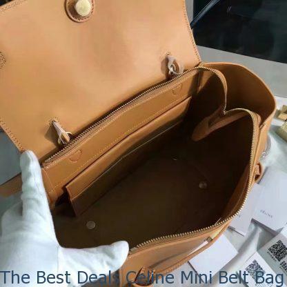 a32b1c156e56 The Best Deals Celine Mini Belt Bag In Tan Smooth Calfskin ...